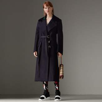Burberry D-ring Detail Doeskin Wool Coat