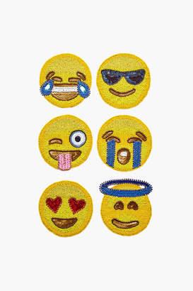 Kim Seybert Emoji 2.0 Coaster Set