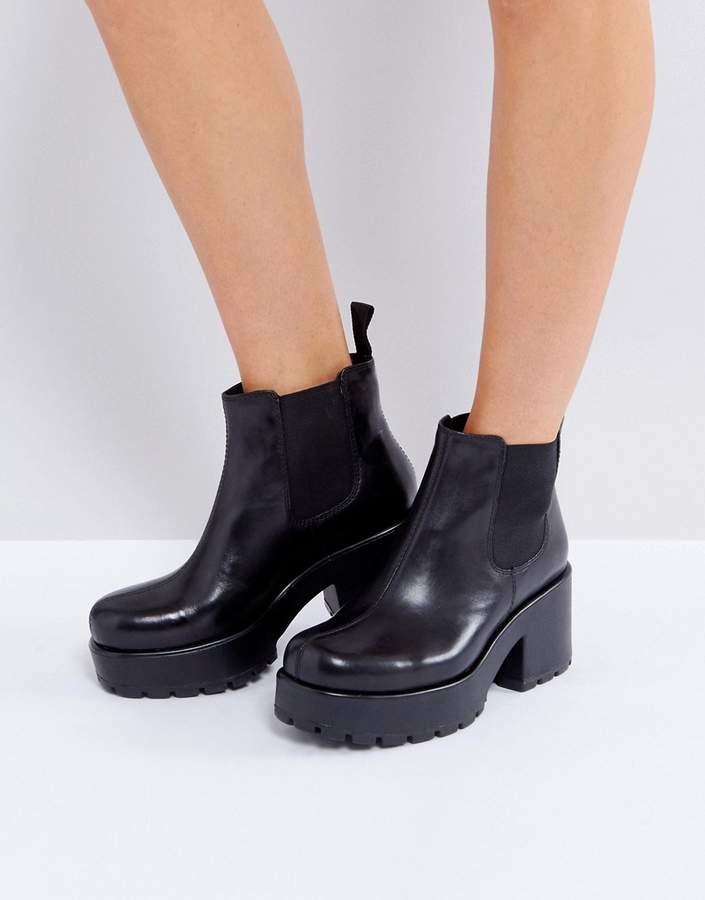 Vagabond Dioon Black Leather Chelsea Boots