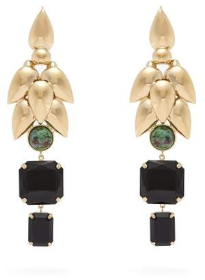 Isabel Marant Stone Pendant Earrings - Womens - Black