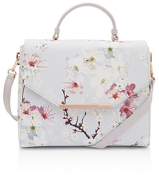 Ted Baker Oriental Blossom Crosshatch Small Satchel $185 thestylecure.com