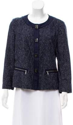 Lafayette 148 Long Sleeve Tweed Blazer
