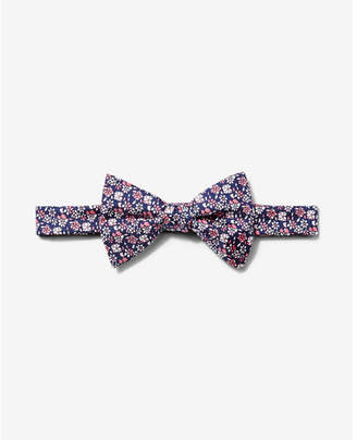 Express floral print silk bow tie