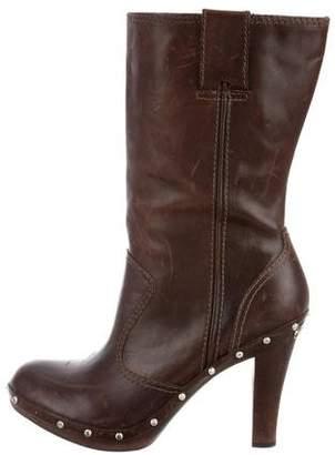 MICHAEL Michael Kors Leather Mid-Calf Boots