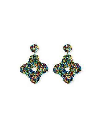 Kenneth Jay Lane Beaded Geometric Drop Earrings, Multi