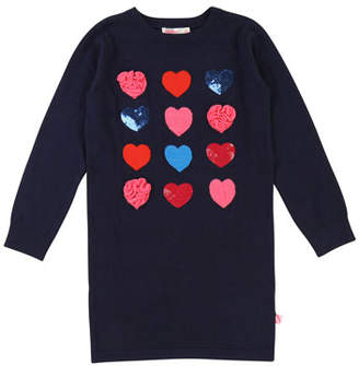 Billieblush Long-Sleeve Knit Heart Dress, Size 4-8