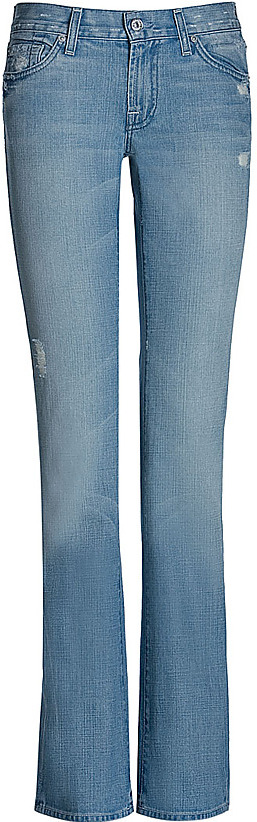 SEVEN FOR ALL MANKIND Light Blue Vintage Bootcut Jeans