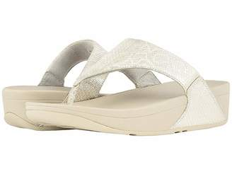 FitFlop Lulu Python Print Toe Thong Sandals