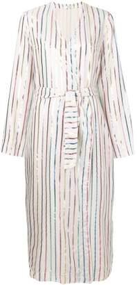 ATTICO metallic stripe dress