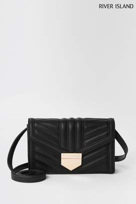 8129fd3f7 River Island Womens Black Mini Quilt Boxy Cross Body Bag - Black