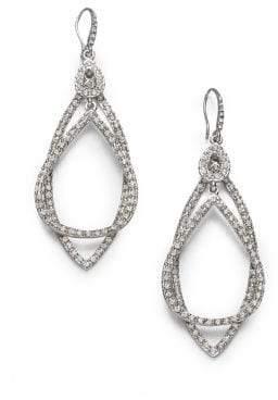 ABS by Allen Schwartz Pave Double Loop Earrings