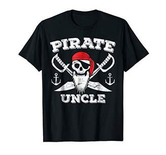 Mens Pirate Uncle T Shirt Pirate Party Costume