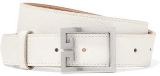 Givenchy Gv3 Textured-leather Belt - White