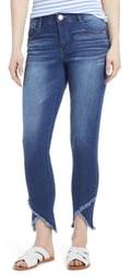 Wit & Wisdom High Waist Frayed Tulip Hem Jeans