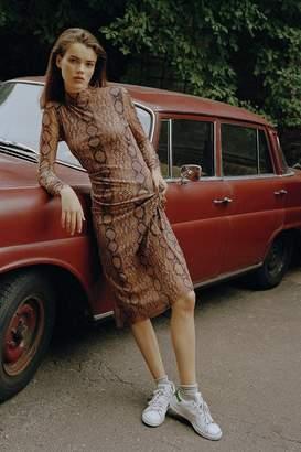 Urban Outfitters Siren Snake Print Mesh Maxi Dress