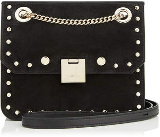Jimmy Choo REBEL/XB Black Leather Bag with Round Studs