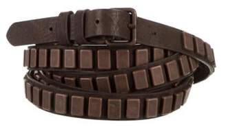 Haute Hippie Embellished Wrap-Around Belt Bronze Embellished Wrap-Around Belt