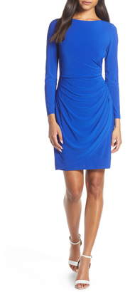 Eliza J Ruched Long Sleeve Body-Con Dress
