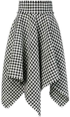 Dolce & Gabbana houndstooth handkerchief hem skirt