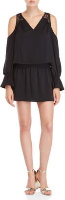 Ramy Brook Black Abigail Cold Shoulder Dress