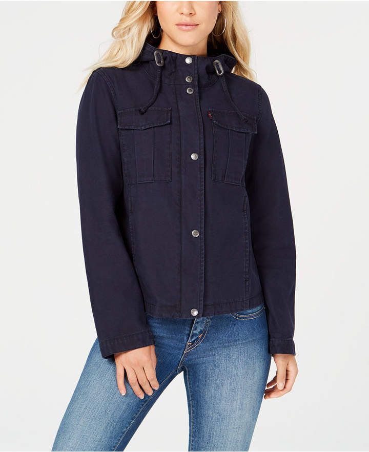 Levi's Cotton Hooded Cargo Jacket
