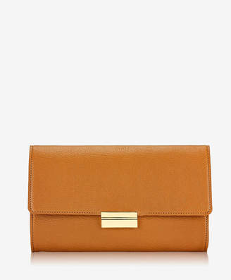 GiGi New York Melrose Clutch Tan French Goatskin