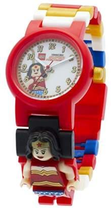 Lego DC Comics 8020271 Super Heroes Kids Minifigure Link Buildable Watch | Red/White | Plastic | 25mm Case Diameter | Analog Quartz | Official