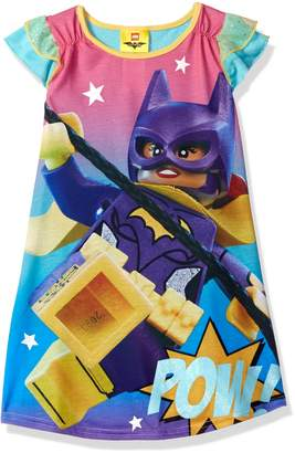 Lego Batman Big Girls' Batgirl Ruffle Short Sleeve Nightgown Pj