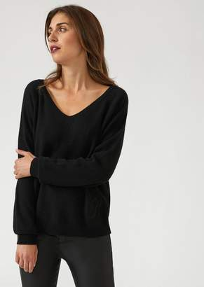 Emporio Armani V-Neck Cashmere Blend Sweater