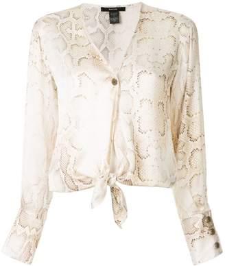 Smythe collarless blouse
