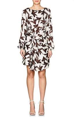 A.L.C. Women's Freja Palm-Leaf-Print Silk Dress