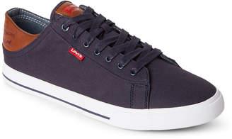 Levi's Navy Jackson Canvas Low-Top Sneakers