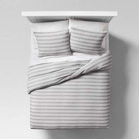 Project 62 Gray Abstract Stripe Duvet Cover Set