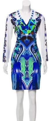 Just Cavalli V-Neck Mini Dress