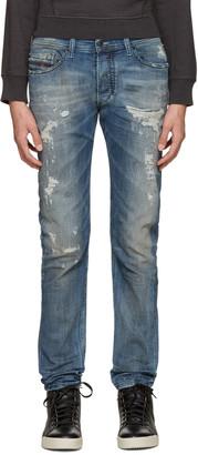 Diesel Blue Distressed Tepphar Jeans $350 thestylecure.com