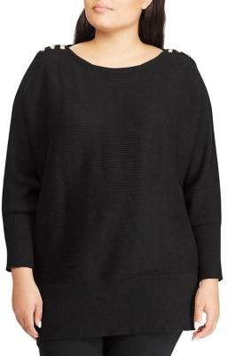 Lauren Ralph Lauren Plus Classic Buttoned Sweater