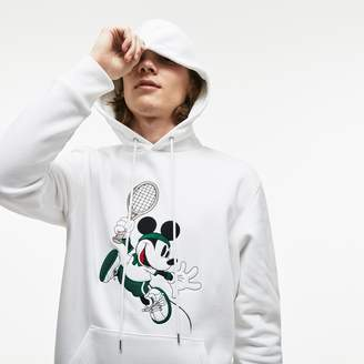 Lacoste Unisex Disney Mickey Embroidery Hooded Fleece Sweatshirt