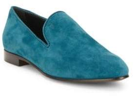 Tod's Pebbled Suede Slip-On Shoes