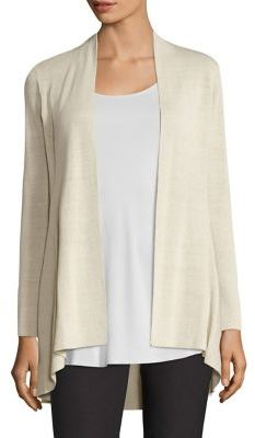 Eileen Fisher Linen Shaped Long Cardigan $318 thestylecure.com