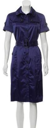 Burberry Satin Midi Dress Indigo Satin Midi Dress