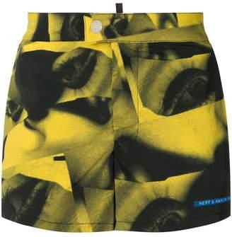 DSQUARED2 X Mert and Marcus printed swim shorts