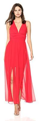 French Connection Women's Andros Crepe Light Sleeveless Sheer Maxi Dress,4