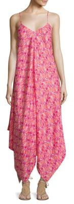 Vineyard Vines Shell-Print Handkerchief Hem Maxi Dress $138 thestylecure.com