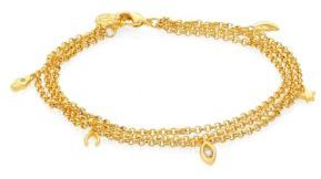 Jules Smith Multi Charm Layered Chain Bracelet $80 thestylecure.com