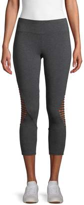 Betsey Johnson Stretch Cut-Out Leggings