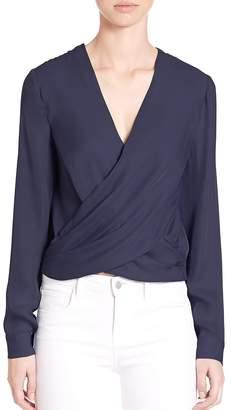 "L'Agence L""AGENCE Women's Silk Snap-Back Blouse"