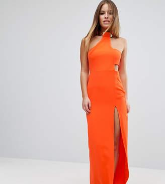 Asos Gold Bar Halter Maxi Dress