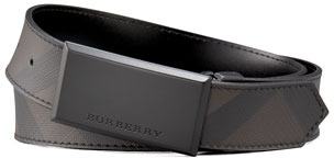 Burberry Logo-Buckle Check Belt
