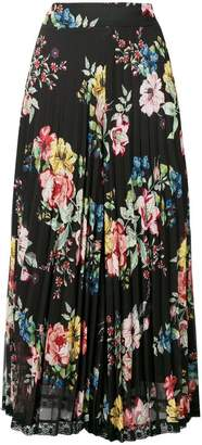 Twin-Set floral pleated culottes