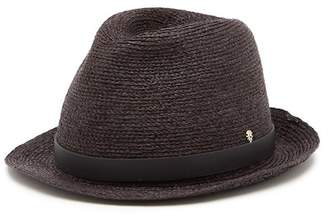 Helen Kaminski Maile Rollable & Packable Leather Trimmed Raffia Fedora